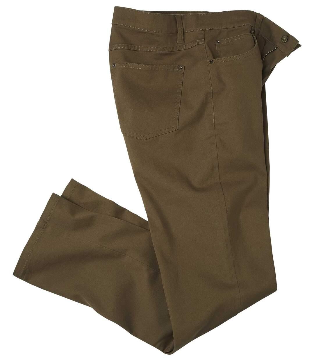 Kalhoty ze strečového kepru
