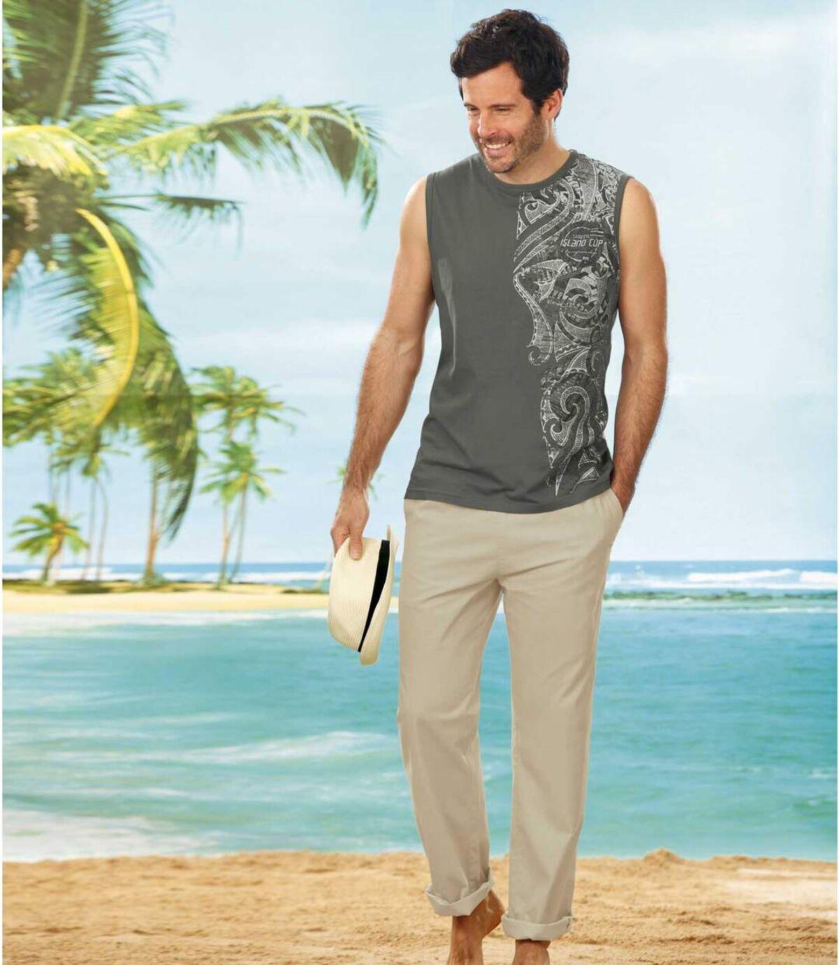 Wygodne, beżowe spodnie Atlas For Men