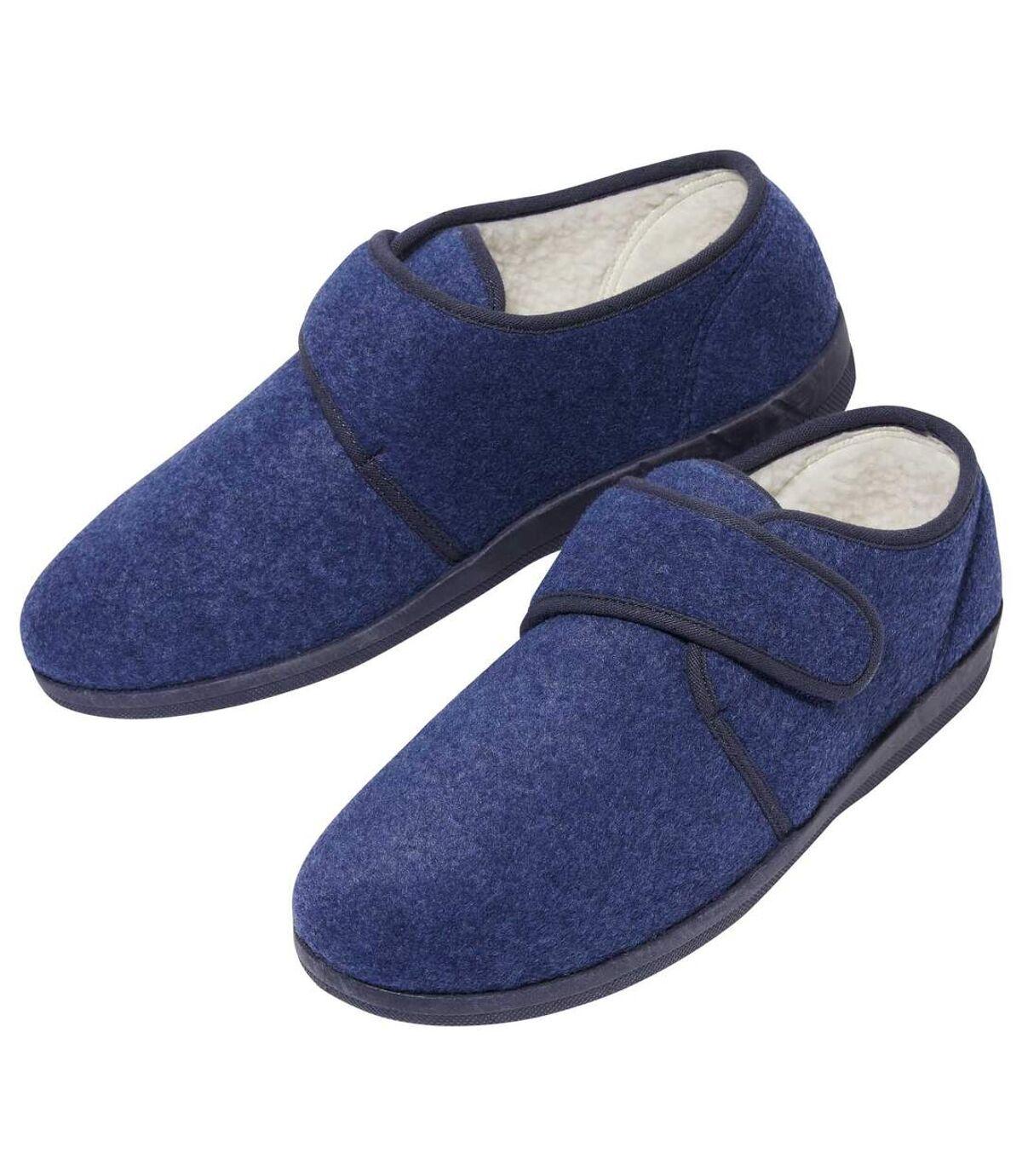 Pánske podšité papuče na suchý zips Atlas For Men