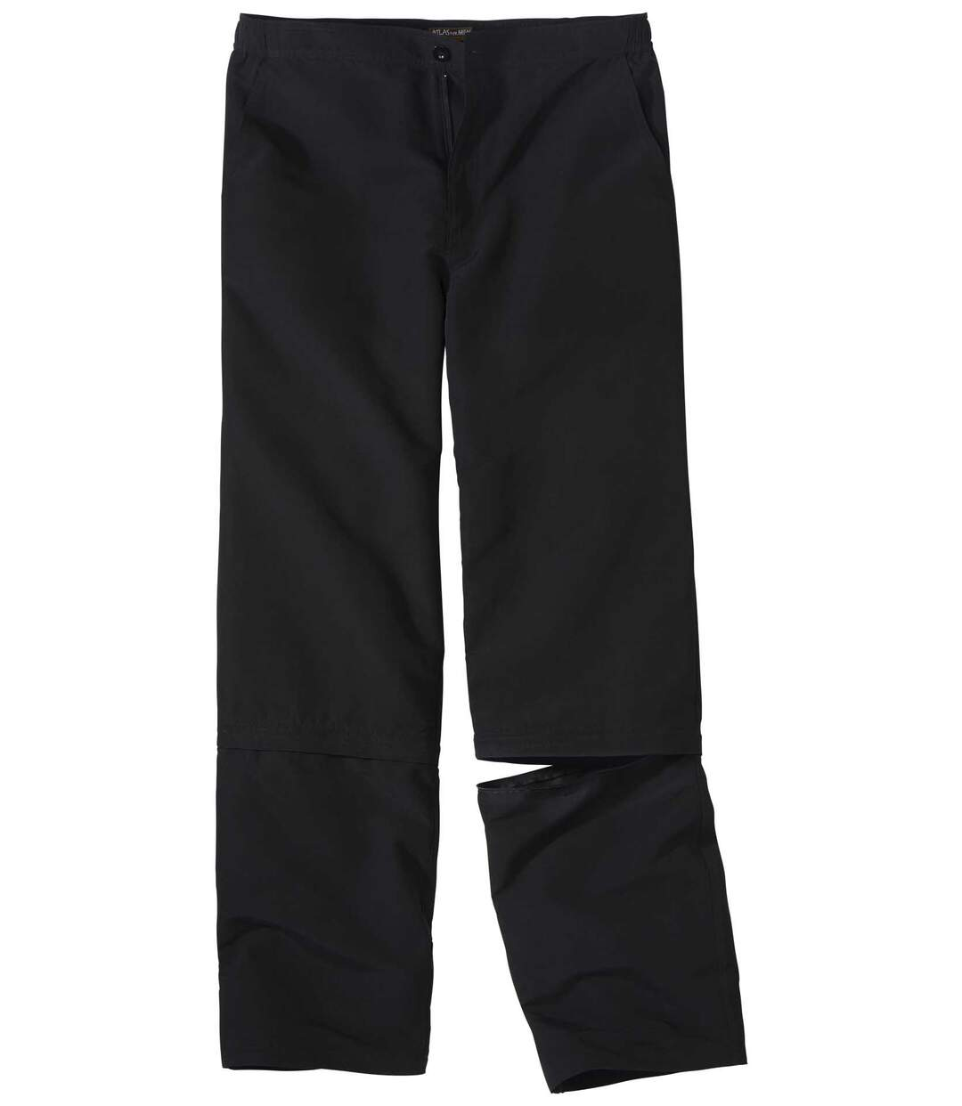 Men's Black 2-in-1 Convertible Microfibre Trousers