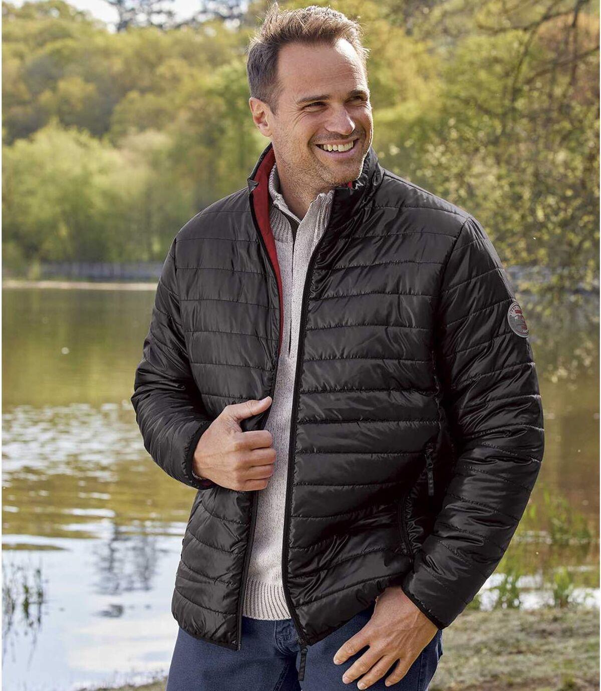 Men's Lightweight Mountain Puffer Jacket - Black - Water-Repellent Atlas For Men