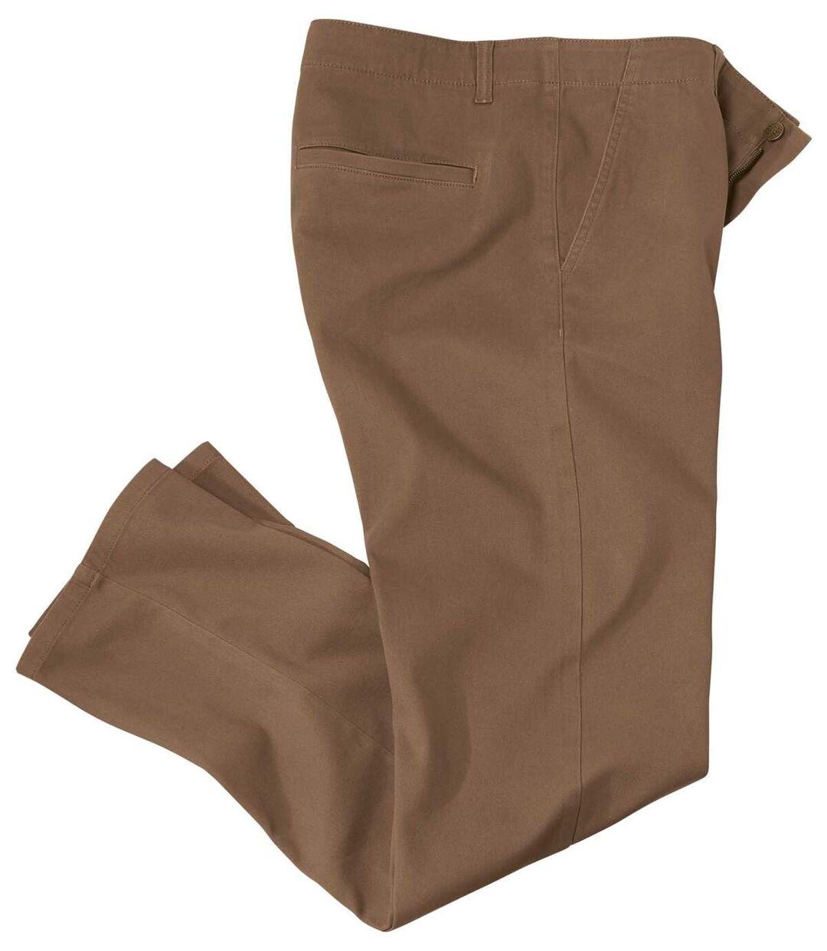 Men's Brown Stretch Chino Pants  Atlas For Men