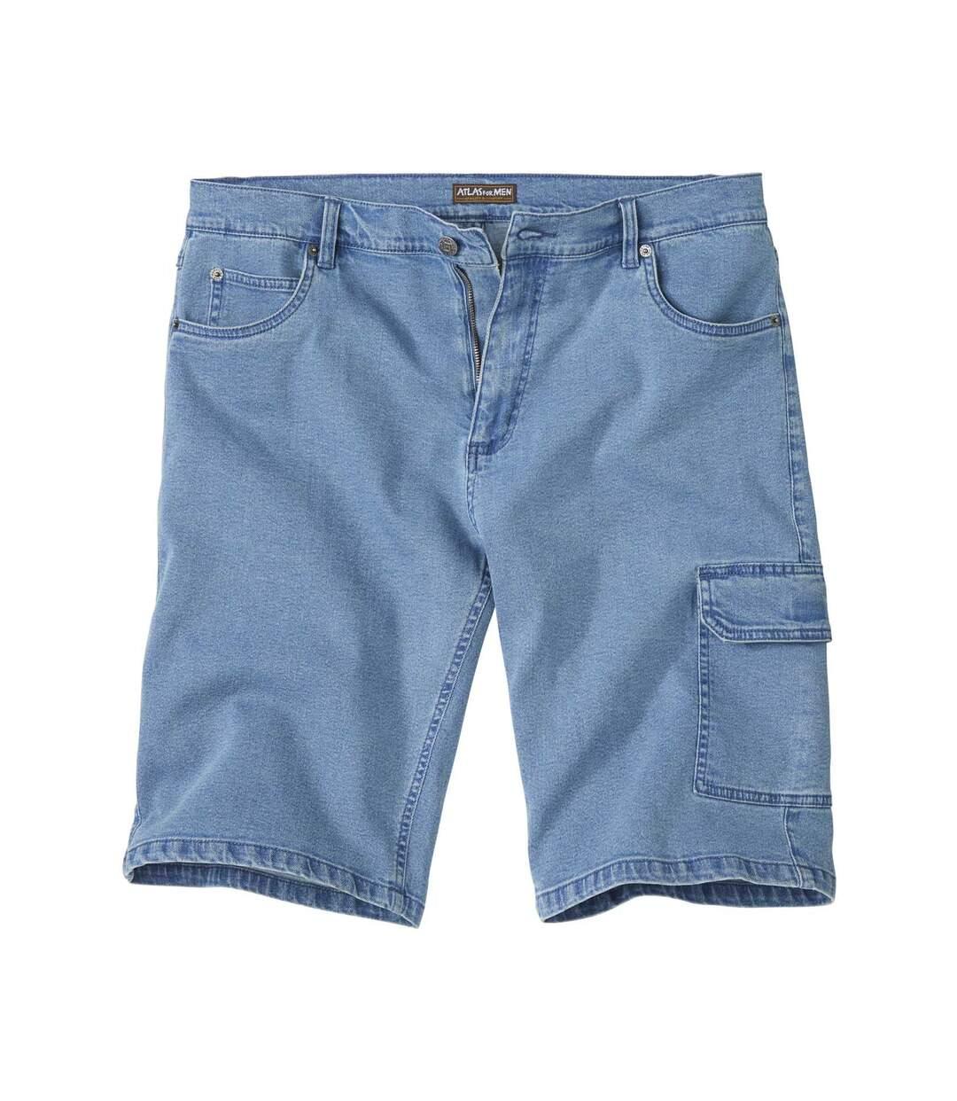 Lichtblauwe jeans bermuda