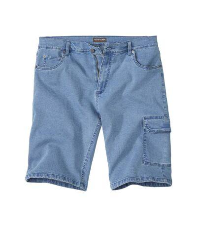Strečové džínsové kraťasy