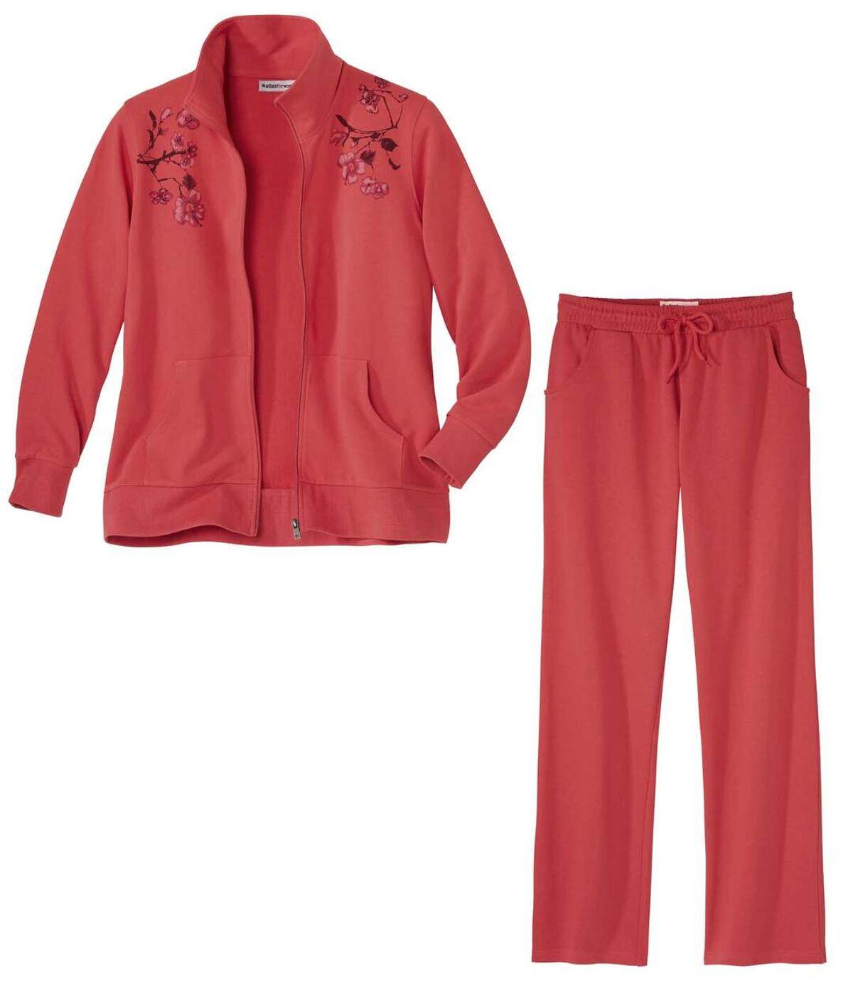 Women's Coral Pink Loungewear Set Atlas For Men