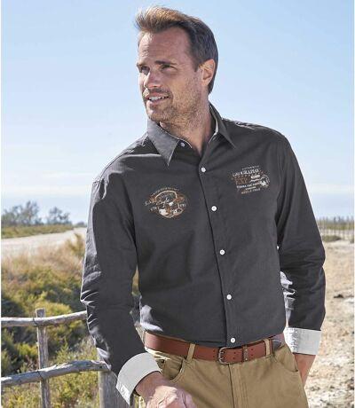 Men's Adventurer Gray Poplin Cotton Shirt