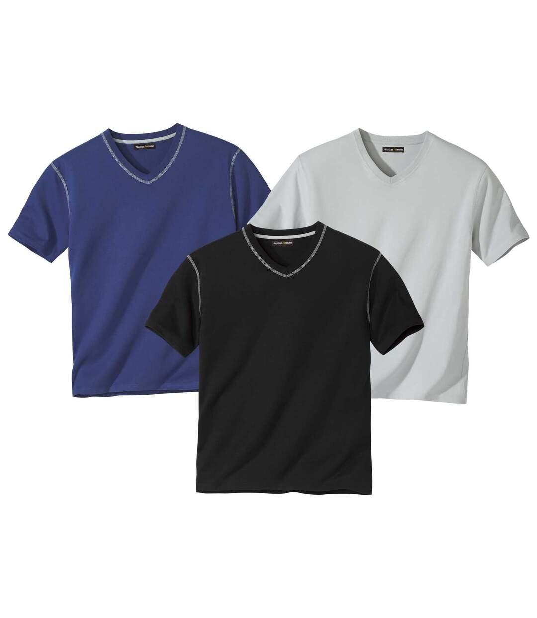 Set van 3 Escape T-shirts met V-hals