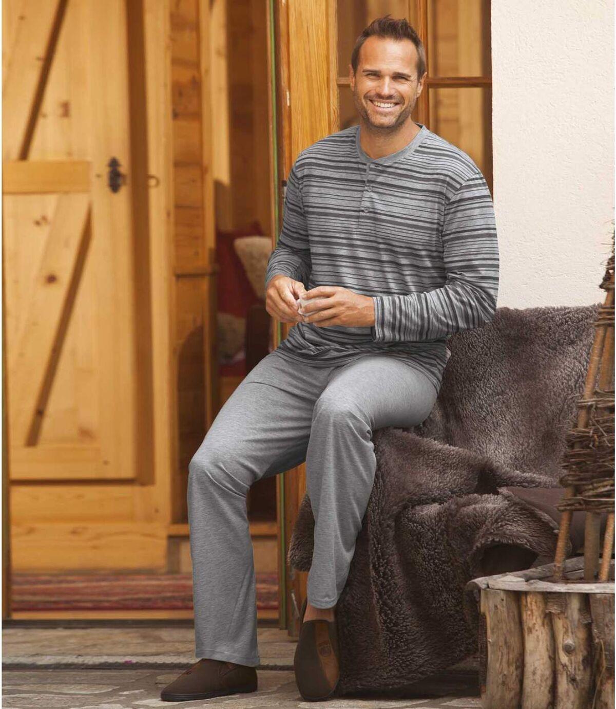 Prúžkované pyžamo s dlhým rukávom Atlas For Men