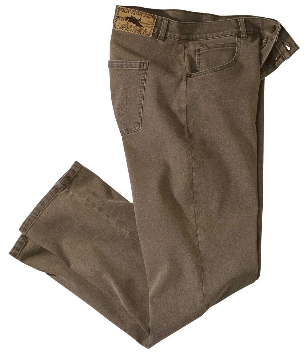 Bruine stretch jeans Atlas®