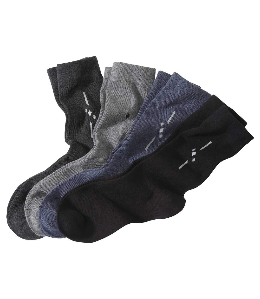 Súprava 4párov ponožiek Fantázia