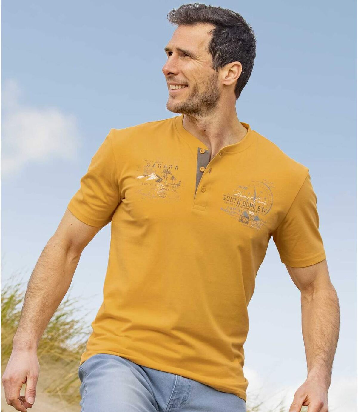 2darabos, Sahara tunéziai nyakú pólóból álló szett Atlas For Men