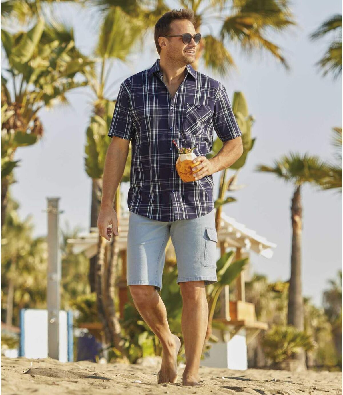Jeans-Bermuda im Cargo-Stil Atlas For Men