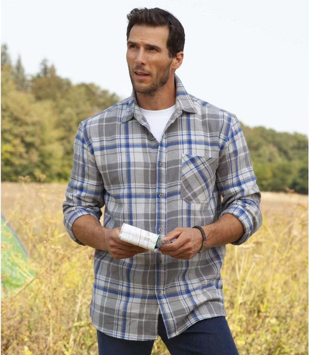 Flanelowa koszula w kratę Atlas For Men
