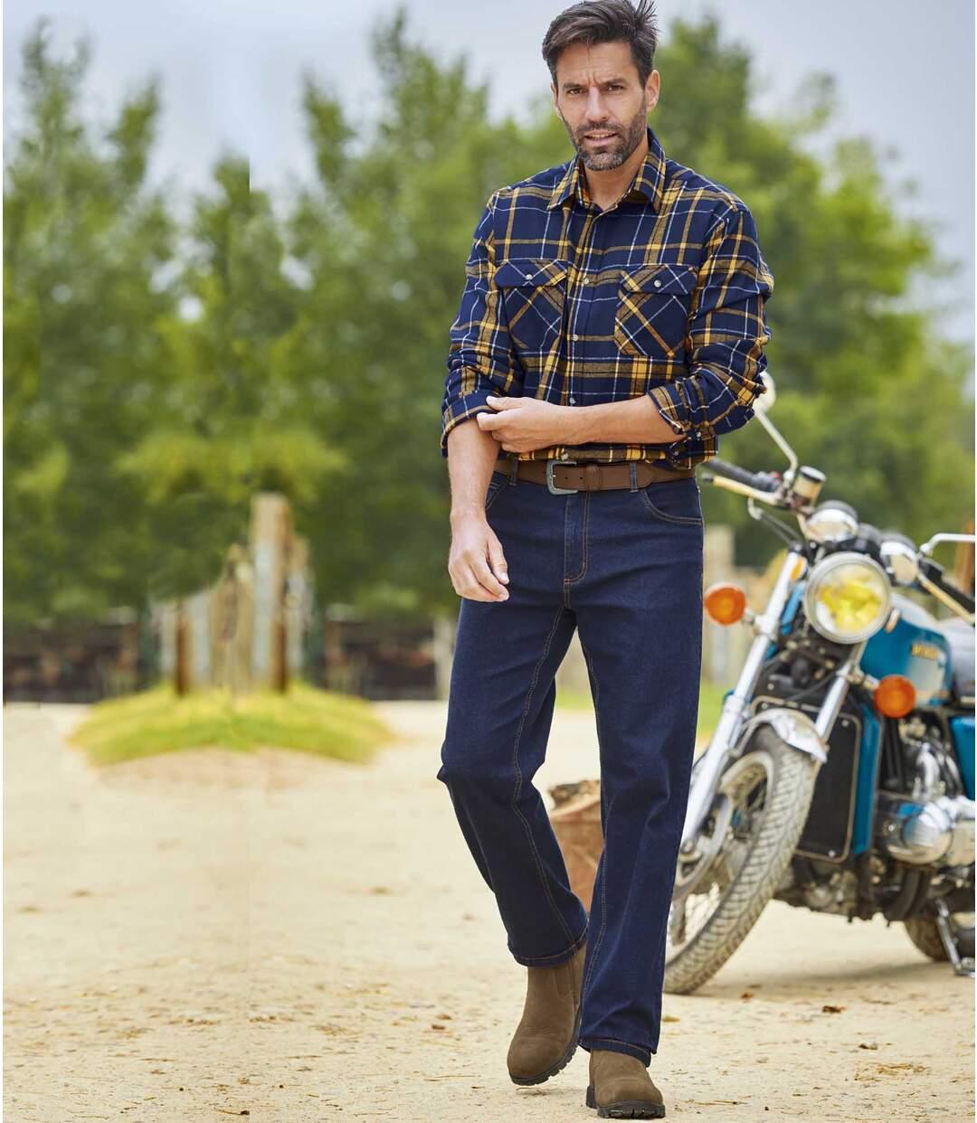 2er-Pack Regular-Jeans in Blau und Grau