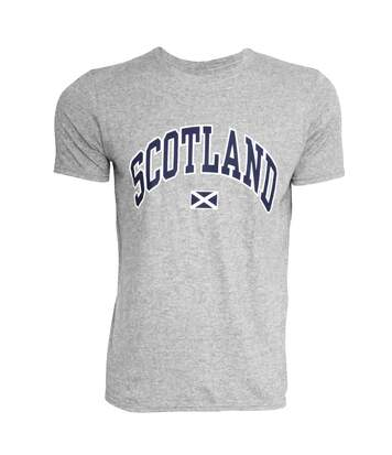 Mens Scotland Print Short Sleeve Casual T-Shirt/Top (Light Grey) - UTSHIRT127