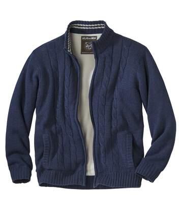 Jacke aus Strick und Fleece