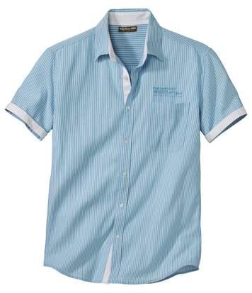 Men's Ocean Blue Striped Shirt
