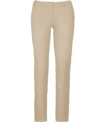 pantalon chino pour femme - K741 - beige