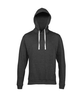 Awdis Adults Unisex Heather Hooded Sweatshirt / Hoodie (Black Heather) - UTRW168