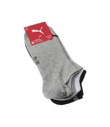 Chaussette Mini-chaussettes - Lot de 3 - Talon renforcé - Pointe renforcée - Coutures plates - Sans bouclette - Multisport - Fine - Coton - Multicolore - Sneaker unisex