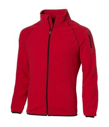 Slazenger Mens Drop Shot Full Zip Micro Fleece Jacket (Red) - UTPF1795
