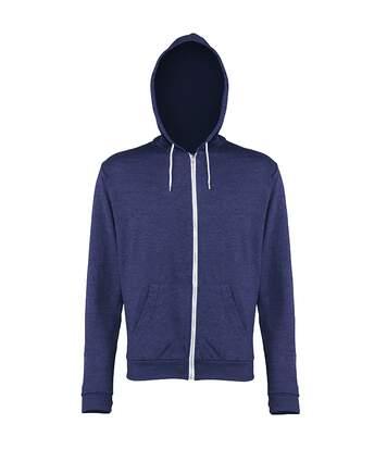 Awdis Mens Heather Lightweight Hooded Sweatshirt / Hoodie / Zoodie (Navy Heather) - UTRW184