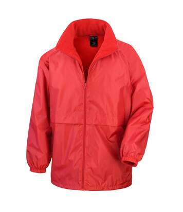 Result Mens Core Adult DWL Jacket (With Fold Away Hood) (Black) - UTBC896