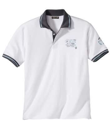 Men's White Sailing Club Polo Shirt