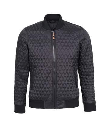 2786 Womens/Ladies Quilted Zip Up Flight Jacket (Black) - UTRW5343