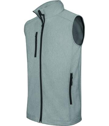 Bodywarmer softshell - gilet sans manches - K403 - gris merle - Homme
