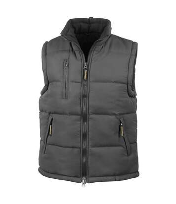 Result Mens Ultra Padded Bodywarmer Water Repellent Windproof Jacket (Black) - UTBC936