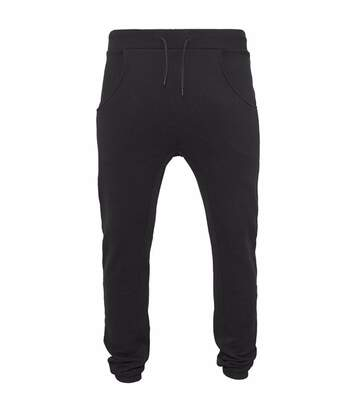 Build Your Brand Mens Heavy Deep Crotch Sweatpants (Black) - UTRW5679