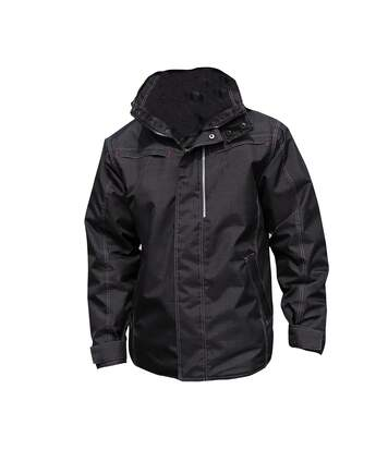 Result Mens Waterproof Denim Textured Rugged Jacket (Black) - UTPC2612