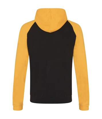 Awdis Just Hoods Adults Unisex Two Tone Hooded Baseball Sweatshirt/Hoodie (Charcoal/Heather Grey) - UTRW3928