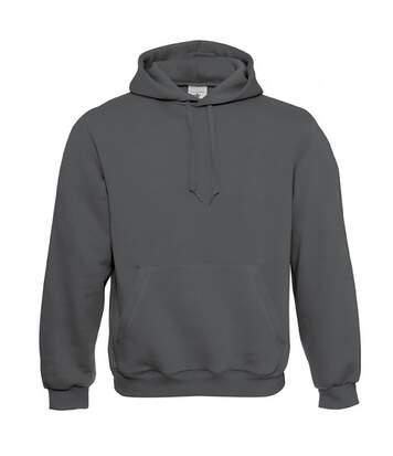 B&C Mens Hooded Sweatshirt / Hoodie (Black) - UTBC127
