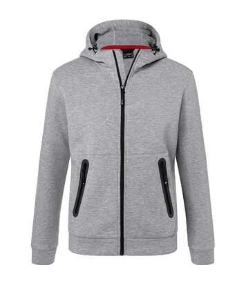 Veste zippée à capuche - Homme - JN1144 - gris clair chiné