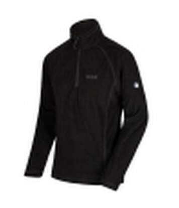 Regatta Great Outdoors Mens Montes Fleece Top (Black) - UTRG2131