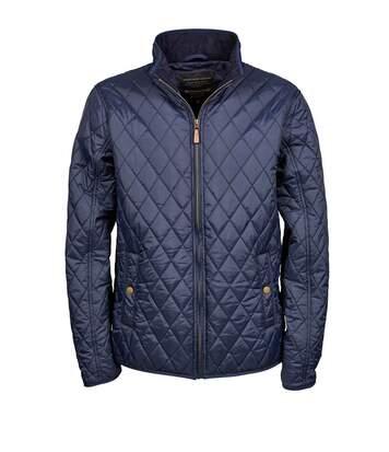 Veste doudoune style chasse - Homme - 9660 - Bleu marine