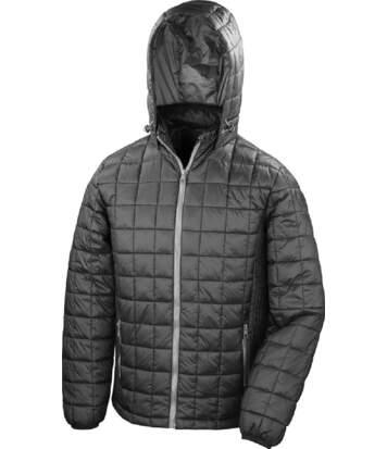Doudoune à capuche homme - R401X - noir