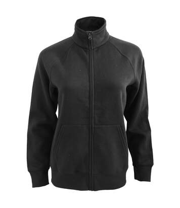 Fruit Of The Loom Ladies/Womens Lady-Fit Fleece Sweatshirt Jacket (Black) - UTBC1371