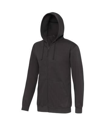 Awdis Plain Mens Hooded Full Zip Hoodie / Zoodie (Steel Grey) - UTRW180