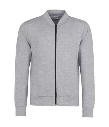 AWDis Mens Undergrad Full Zip Jacket (Heather Grey/Jet Black) - UTRW3937