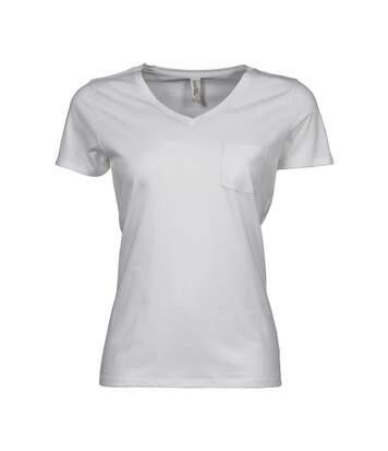Tee Jays - T-Shirt À Col V - Femme (Blanc) - UTBC3815