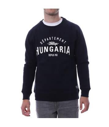Sweat Shirt Marine Blanc Homme Hungaria LEGEND