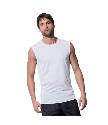 Stedman Mens Active 140 Sleeveless Tee (White) - UTAB345