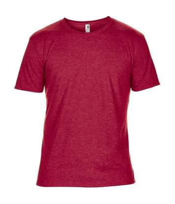 Anvil Mens Plain Short Sleeve Tri-Blend T-Shirt (Heather Red) - UTRW3465