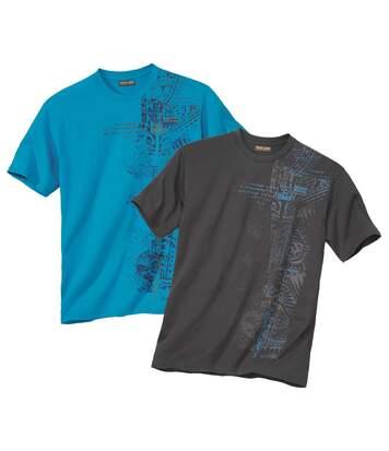 Sada 2 triček s maorským potiskem