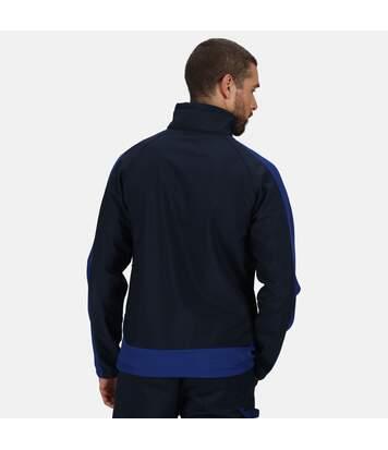Regatta Mens Contrast 3 Layer Softshell Full Zip Jacket (Navy/New Royal Blue) - UTRG3747