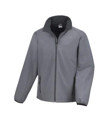 Result Mens Core Printable Softshell Jacket (Charcoal/ Black) - UTRW3697