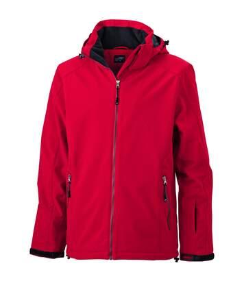 Veste softshell doublée - JN1054 - Rouge - Homme - Sports d'hiver - Ski